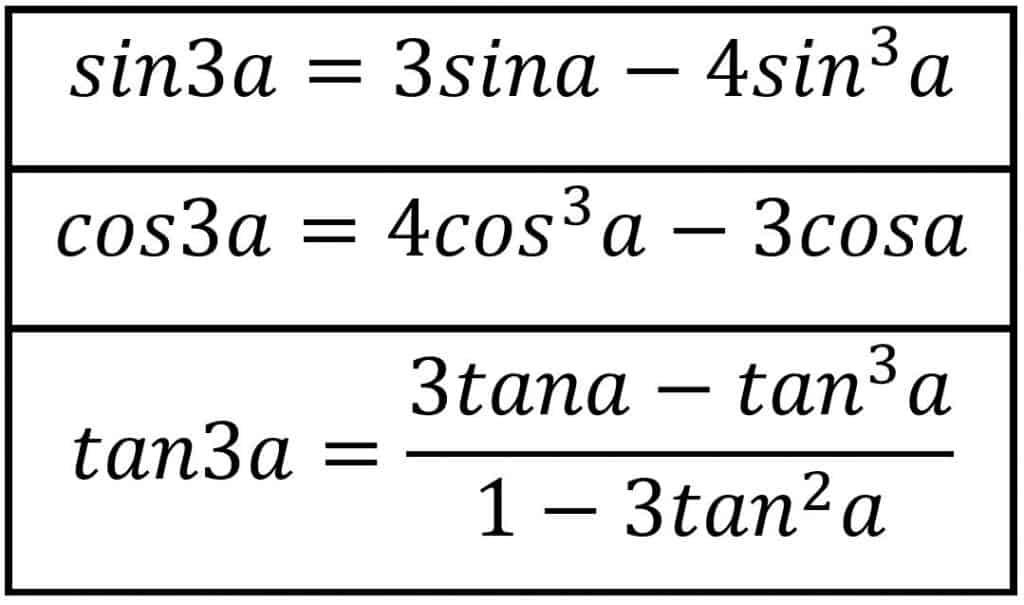 Üç Kat Açı Formülleri